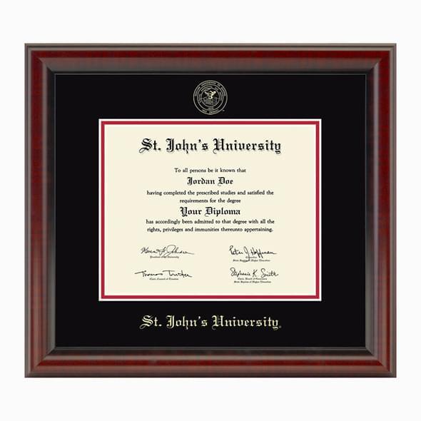 St. John's University Diploma Frame, the Fidelitas