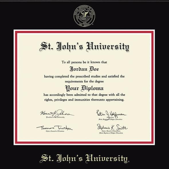St. John's University Diploma Frame, the Fidelitas - Image 2
