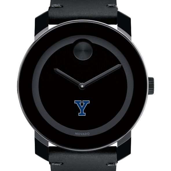 Yale University Men's Movado BOLD with Leather Strap