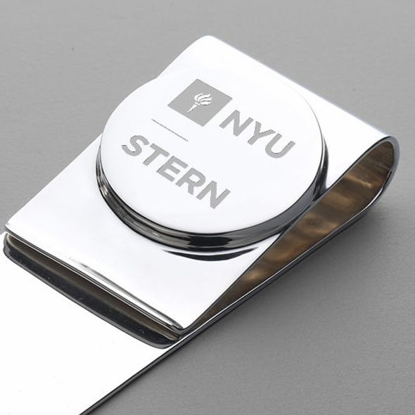 NYU Stern Sterling Silver Money Clip - Image 2