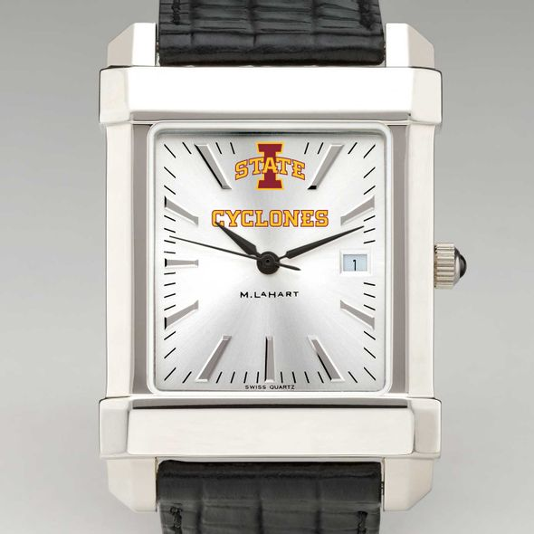 Iowa State University Men's Collegiate Watch with Leather Strap