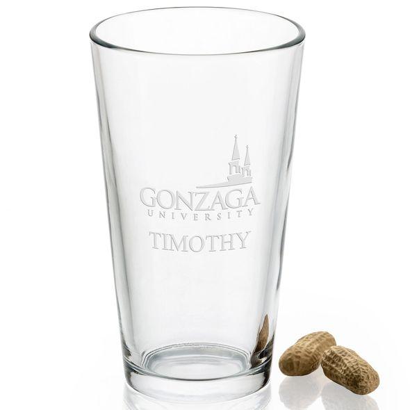 Gonzaga University 16 oz Pint Glass - Image 2