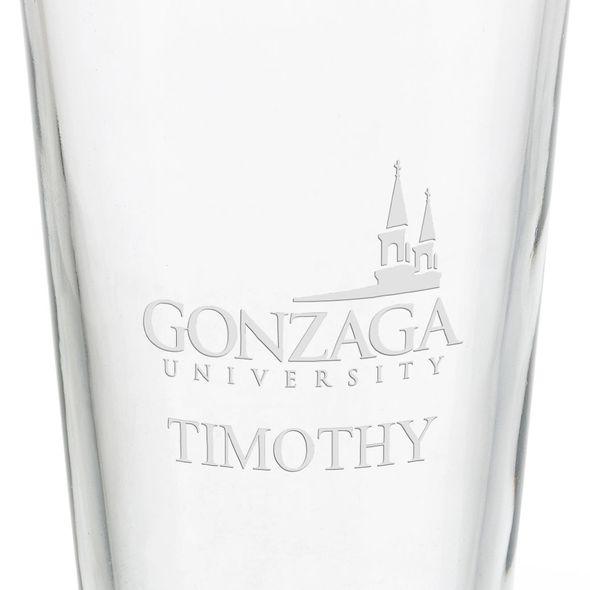 Gonzaga University 16 oz Pint Glass - Image 3
