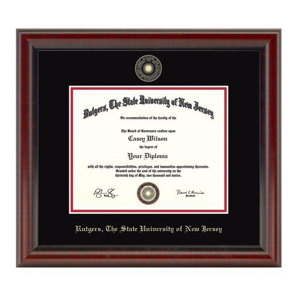 Rutgers University Bachelors Diploma Frame, the Fidelitas