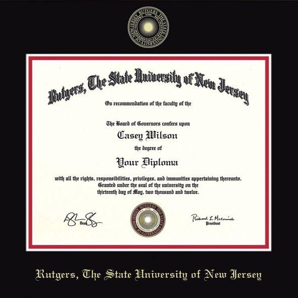 Rutgers University Bachelors Diploma Frame, the Fidelitas - Image 2