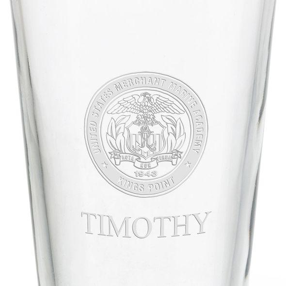 US Merchant Marine Academy 16 oz Pint Glass - Image 3