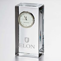 Elon Tall Glass Desk Clock by Simon Pearce