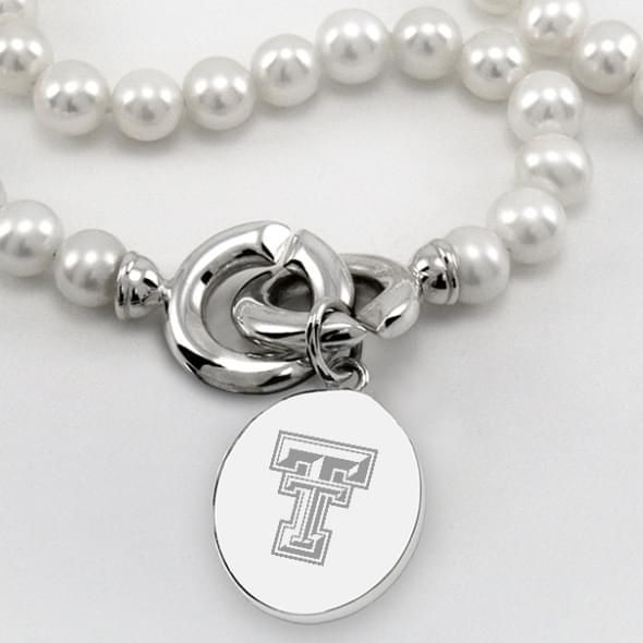Texas Tech Pearl Necklace with Sterling Silver Charm - Image 2
