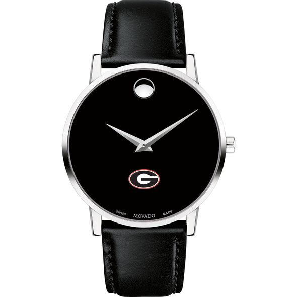 University of Georgia Men's Movado Museum with Leather Strap - Image 2