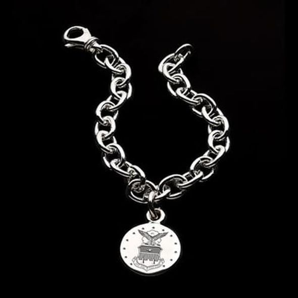 Air Force Academy Sterling Silver Charm Bracelet - Image 1