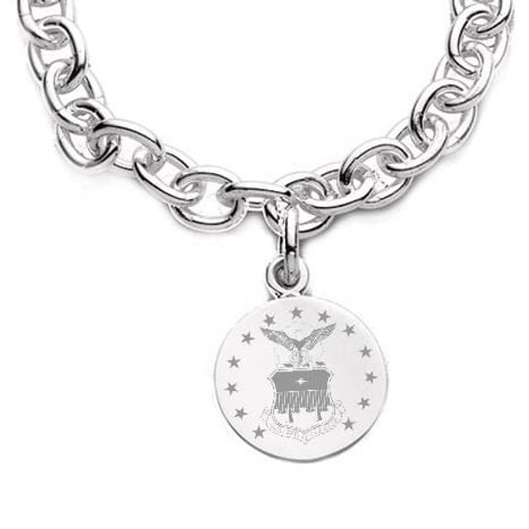 Air Force Academy Sterling Silver Charm Bracelet - Image 2