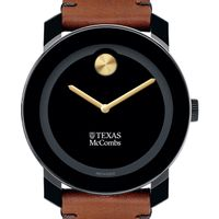 Texas McCombs Men's Movado BOLD with Brown Leather Strap