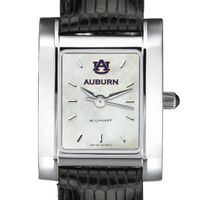Auburn Women's MOP Steel Quad with leather strap