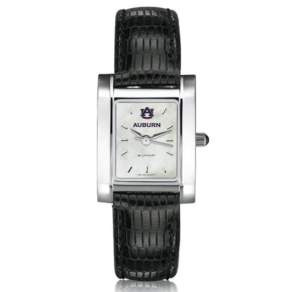 Auburn Women's MOP Steel Quad with leather strap - Image 2