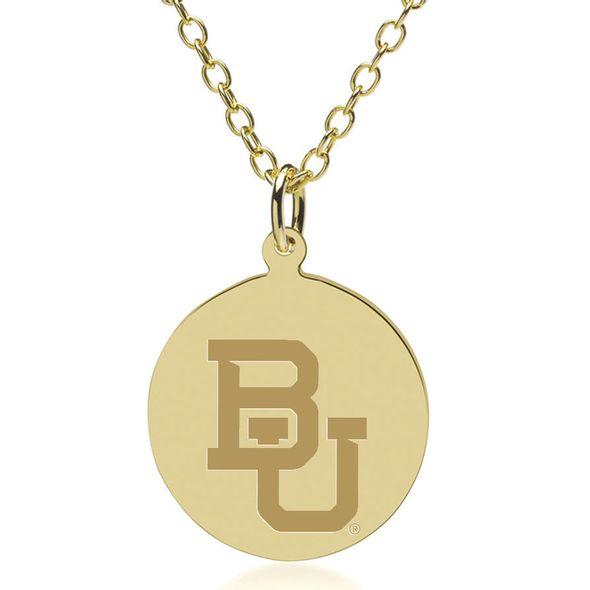 Baylor 14K Gold Pendant & Chain
