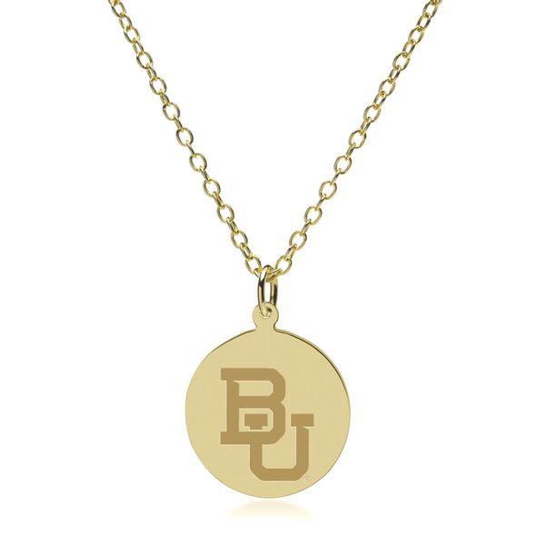 Baylor 14K Gold Pendant & Chain - Image 2