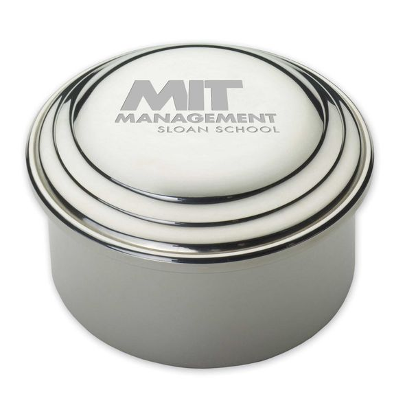 MIT Sloan Pewter Keepsake Box - Image 1