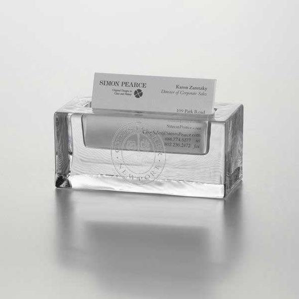 Christopher Newport University Glass Business Cardholder by Simon Pearce