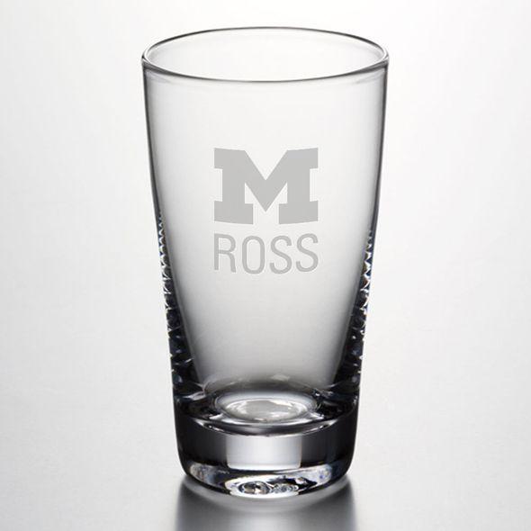 Michigan Ross Ascutney Pint Glass by Simon Pearce