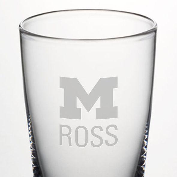 Michigan Ross Ascutney Pint Glass by Simon Pearce - Image 2