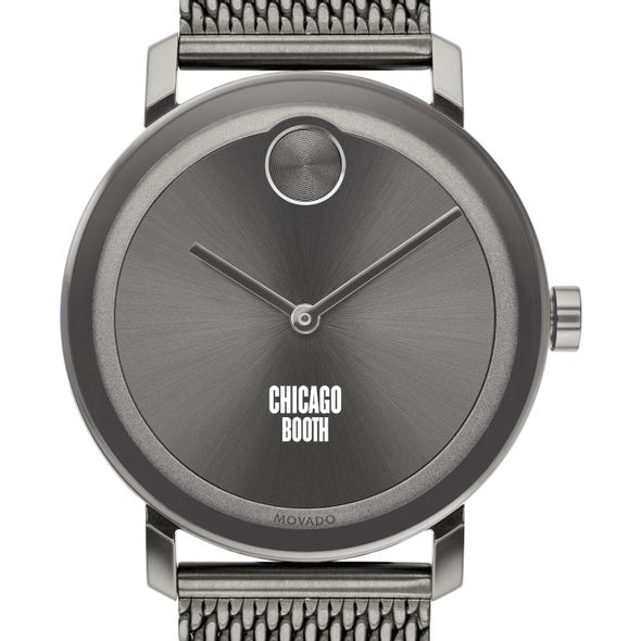Chicago Booth Men's Movado BOLD Gunmetal Grey with Mesh Bracelet