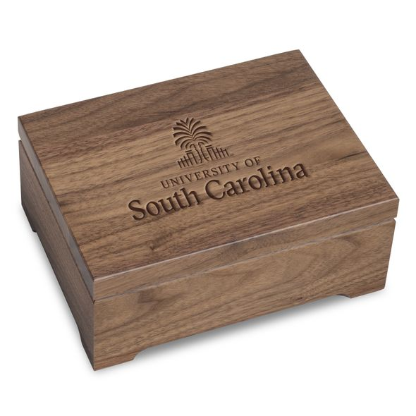 University of South Carolina Solid Walnut Desk Box - Image 1
