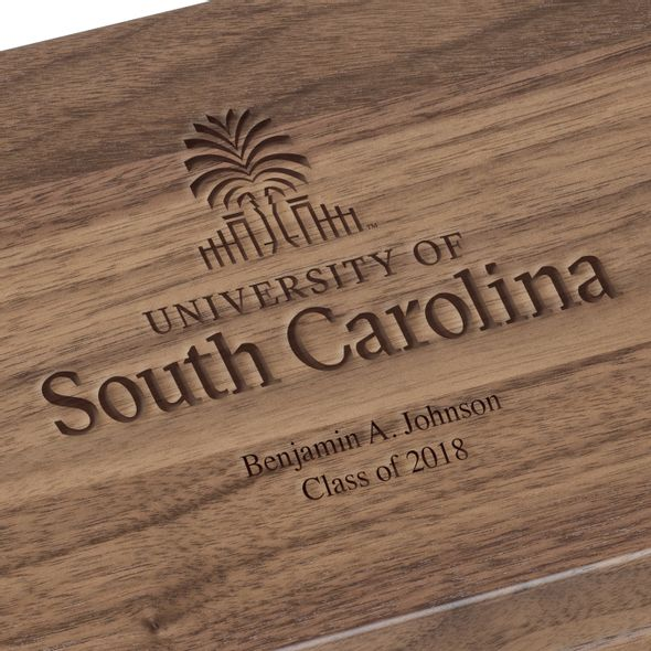 University of South Carolina Solid Walnut Desk Box - Image 3