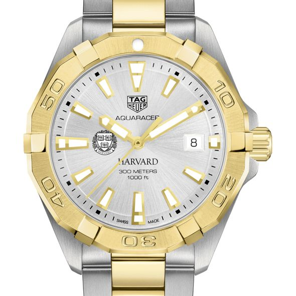 Harvard University Men's TAG Heuer Two-Tone Aquaracer