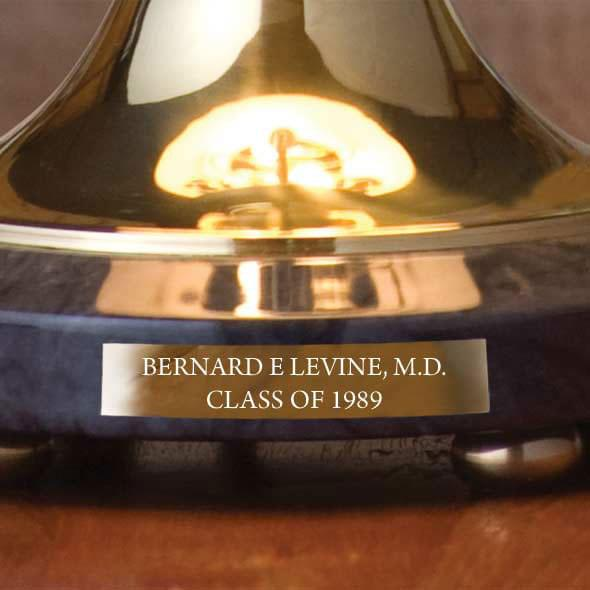 Virginia Commonwealth University Lamp in Brass & Marble - Image 3