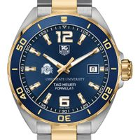 Ohio State Men's TAG Heuer Two-Tone Formula 1 with Blue Dial & Bezel