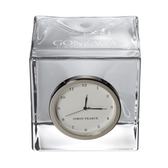 Gonzaga Glass Desk Clock by Simon Pearce