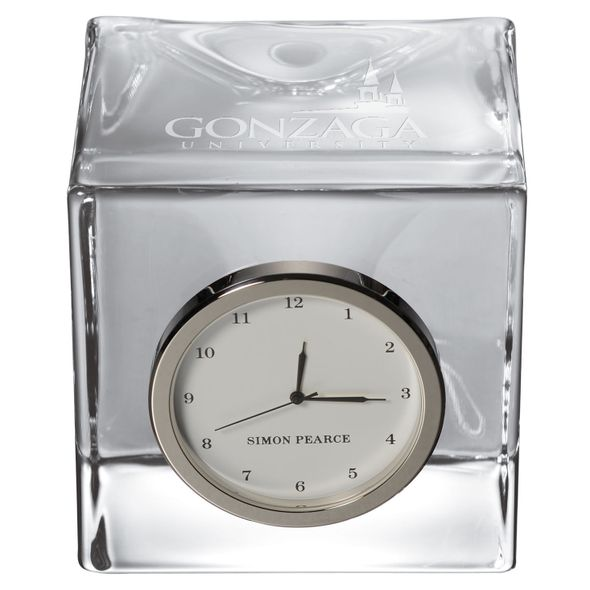Gonzaga Glass Desk Clock by Simon Pearce - Image 2