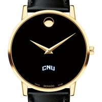 Christopher Newport University Men's Movado Gold Museum Classic Leather