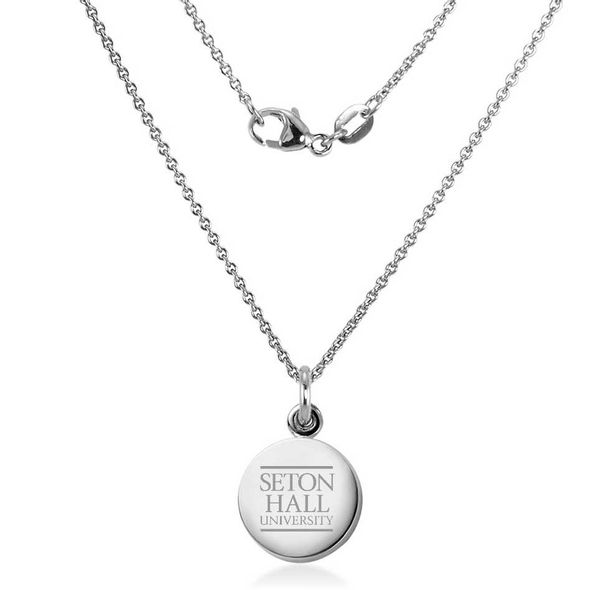 Seton Hall Necklace with Charm in Sterling Silver - Image 1