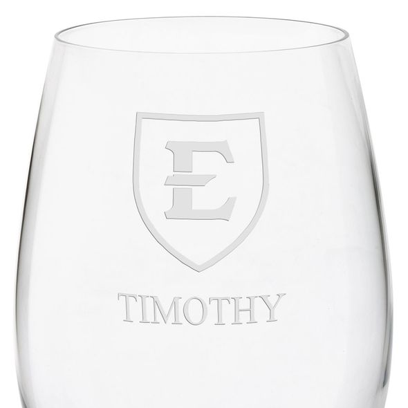 East Tennessee State University Red Wine Glasses - Set of 4 - Image 3