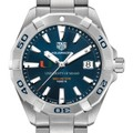 University of Miami Men's TAG Heuer Steel Aquaracer with Blue Dial - Image 1