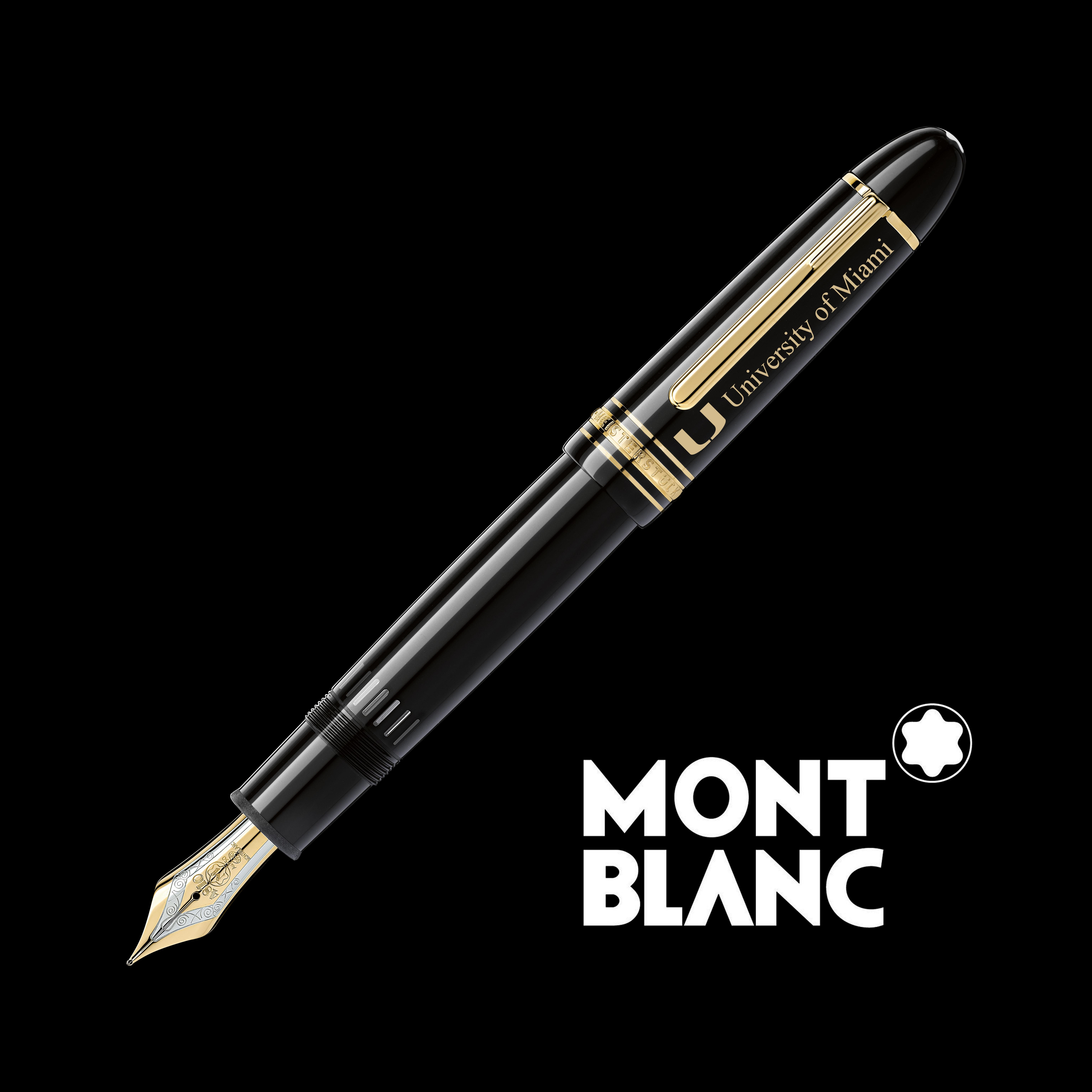 University of Miami Montblanc Meisterstück 149 Fountain Pen in Gold