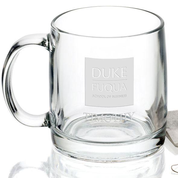 The Fuqua School of Business 13 oz Glass Coffee Mug - Image 2
