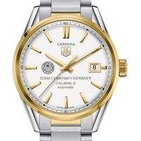 TCU Men's TAG Heuer Two-Tone Carrera with Bracelet