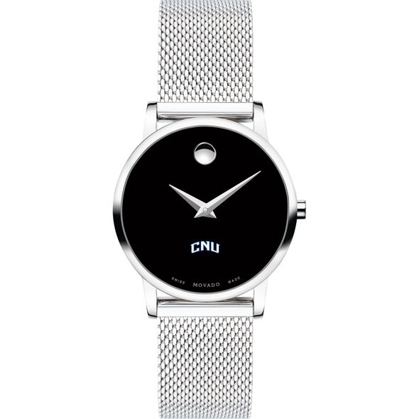 Christopher Newport University Women's Movado Museum with Mesh Bracelet - Image 2