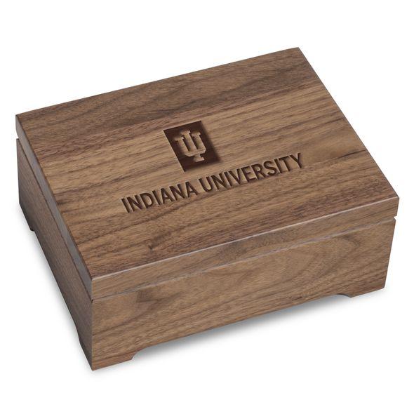 Indiana University Solid Walnut Desk Box