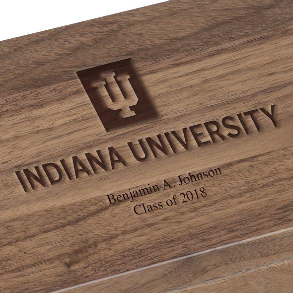 Indiana University Solid Walnut Desk Box - Image 3
