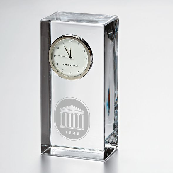 Ole Miss Tall Desk Clock by Simon Pearce