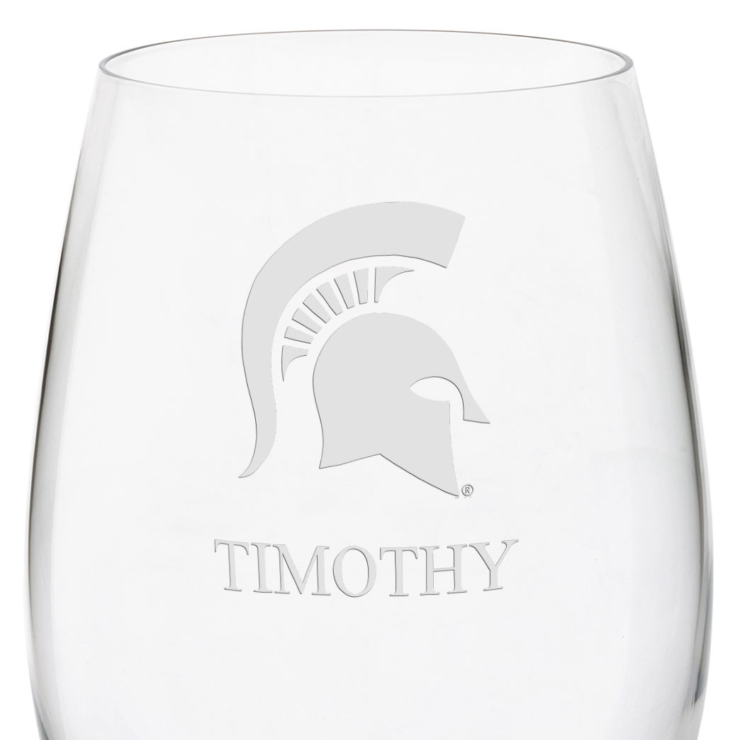 Michigan State University Red Wine Glasses - Set of 4 - Image 3