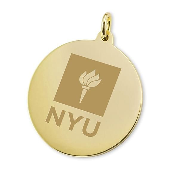 NYU 18K Gold Charm
