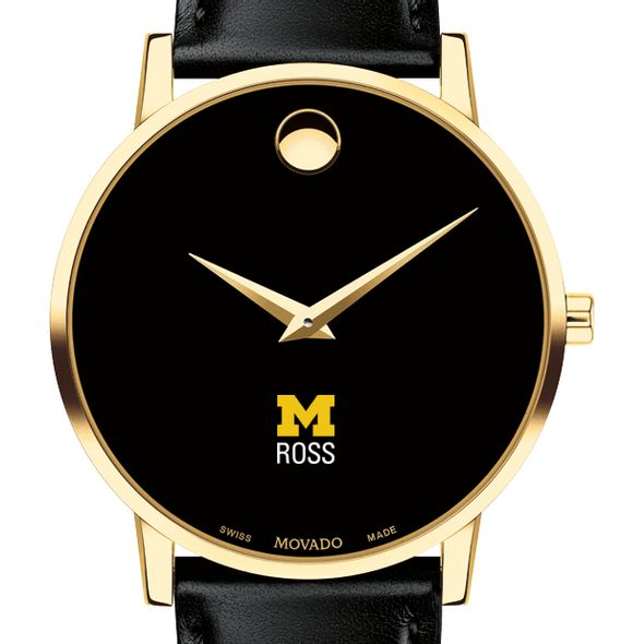 Michigan Ross Men's Movado Gold Museum Classic Leather - Image 1