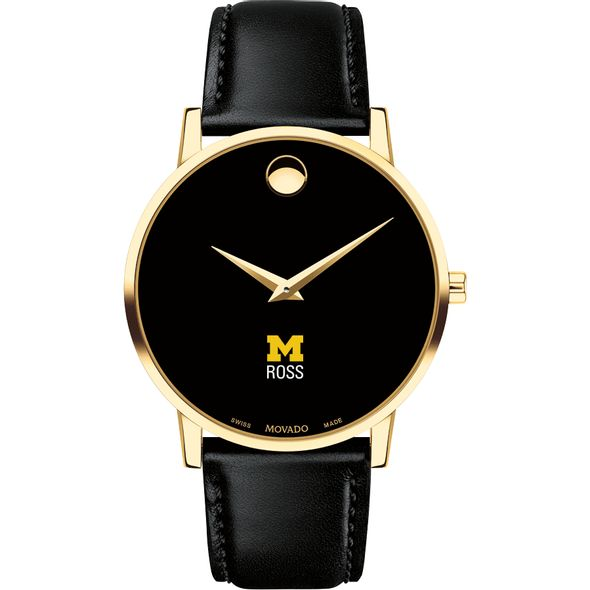 Michigan Ross Men's Movado Gold Museum Classic Leather - Image 2