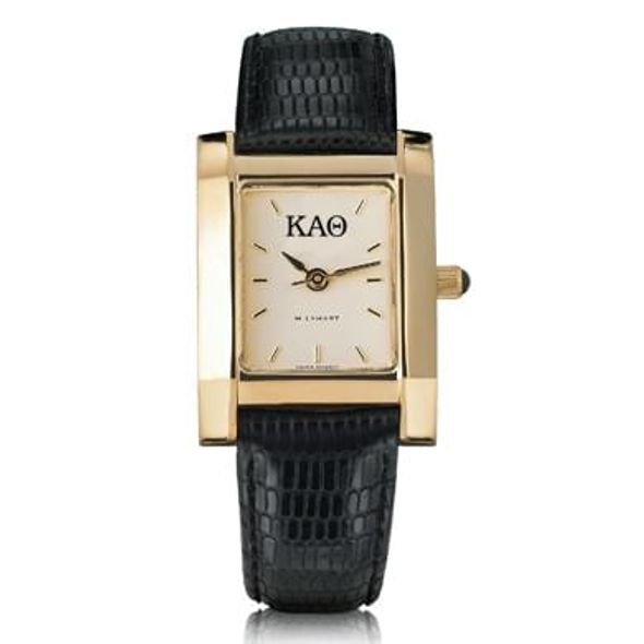 KAT Women's Gold Quad Watch with Leather Strap
