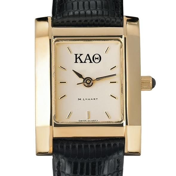 KAT Women's Gold Quad Watch with Leather Strap - Image 2
