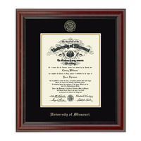 University of Missouri PhD Diploma Frame, the Fidelitas